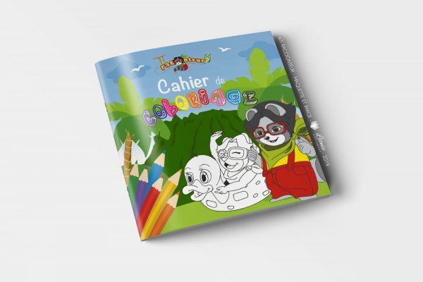 Cahier de coloriage Ti Racoonteur - couverture