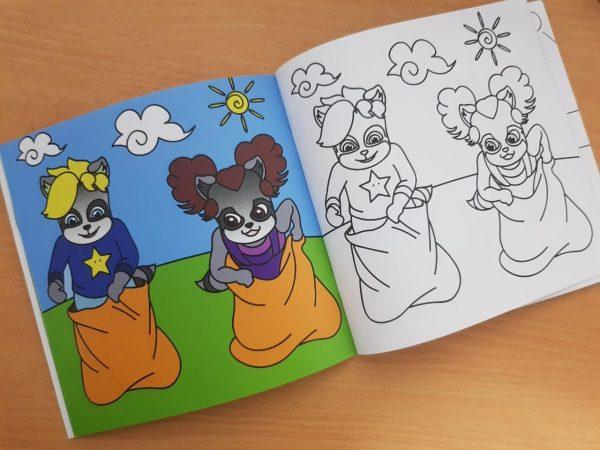 Cahier de coloriage Ti Racoonteur - page Intérieur