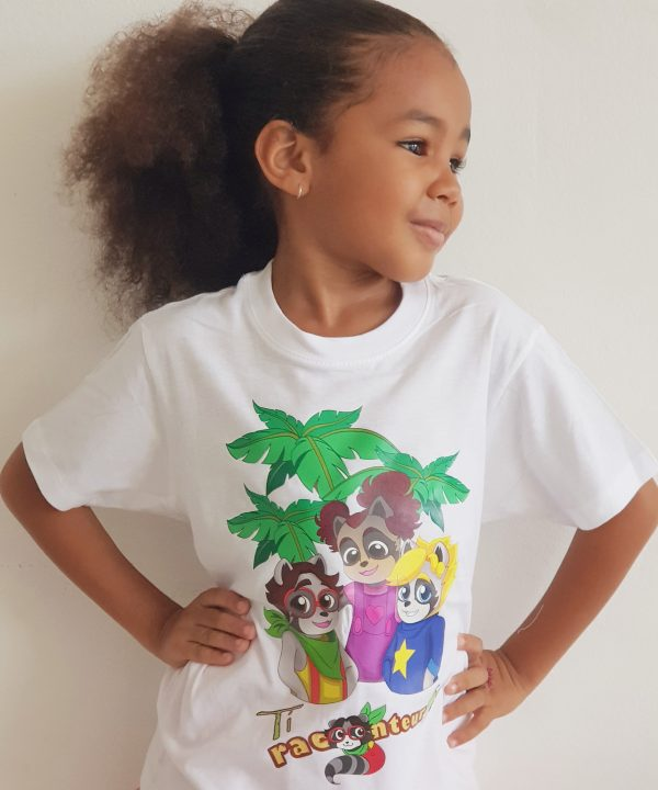 Tee-shirt Ti Racoonteur - taille enfant